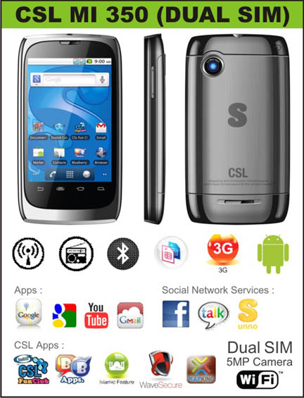 CSL MI350 Android Phones