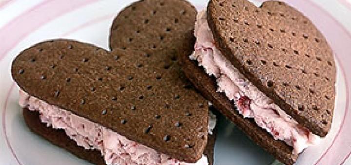 Ice Cream Sandwich Love Shape