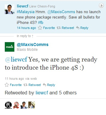 Maxis Confirms Preparing for iPhone 4S launch in Malaysia