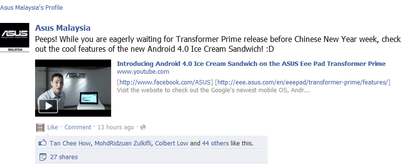 Asus Transformer Prime Launching Malaysia