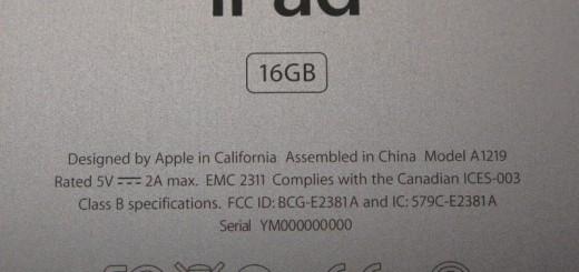 iPad Serial Number Metal Case