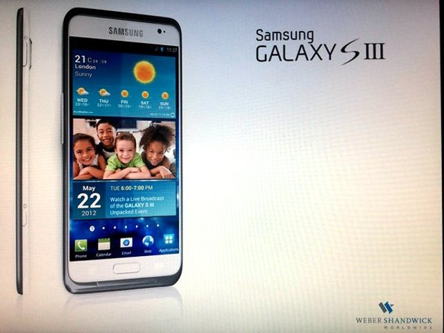 Samsung Galaxy S III SGS3 Leaked Photo