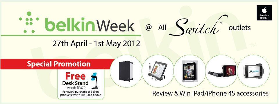 Switch Belkin Week Info Banner