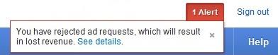 Google Adsense Blocked Ad Request