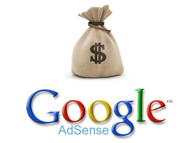 Google Adsense Logo with Cash