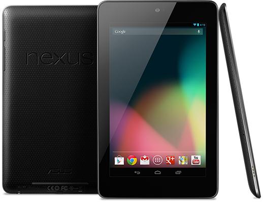 Google Nexus 7 Tablet Design Front Back