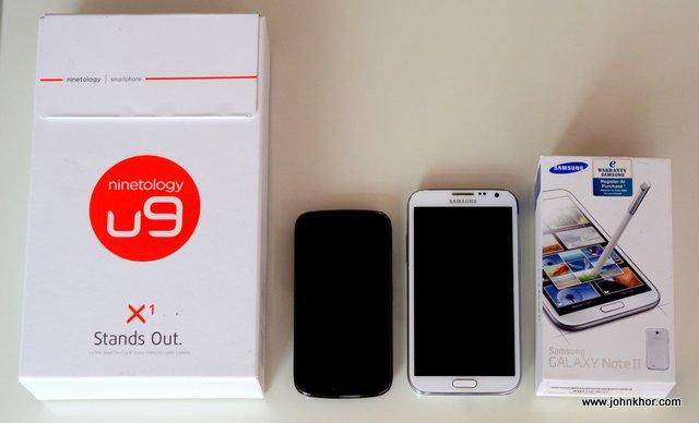 [Tech Kaiju] Ninetology U9X1 VS Samsung Galaxy Note 2 - Simple Comparison (1)