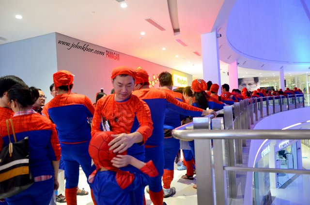 Official Launching of TGV Gurney Paragon & Guinness Record Attempt of 'The Largest Gathering of People Dressed as Spider-Man'! (21)